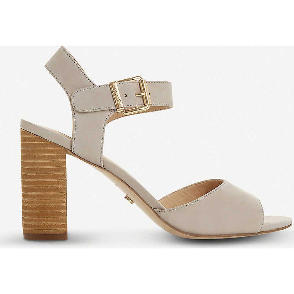 デューン DUNE レディース サンダル・ミュール シューズ・靴【isobela leather sandals】GREY-NUBUCK