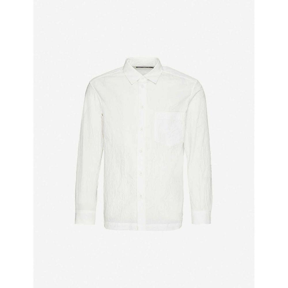 イッセイ ミヤケ ISSEY MIYAKE メンズ シャツ トップス【crinkled relaxed-fit woven shirt】White