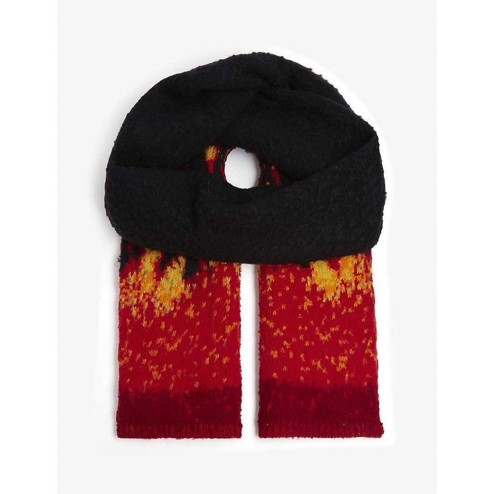 パーム エンジェルス PALM ANGELS レディース マフラー・スカーフ・ストール 【burning casentino wool scarf】BLACK MULTICOLOR