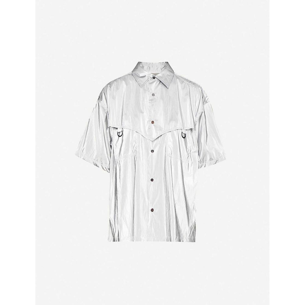 アンブッシュ AMBUSH レディース ブラウス・シャツ トップス【metallic shell shirt】Silver