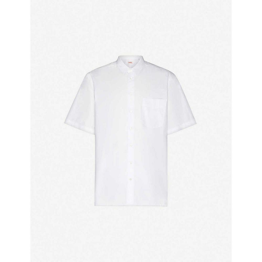 ラフ シモンズ RAF SIMONS メンズ 半袖シャツ トップス【slogan-print oversized cotton shirt】White