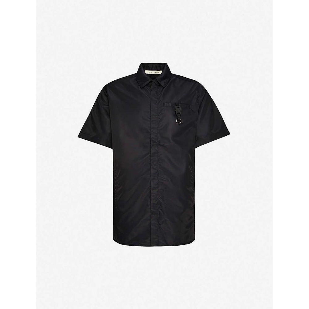 アリクス 1017 ALYX 9SM メンズ 半袖シャツ トップス【buckled boxy-fit shell shirt】BLACK