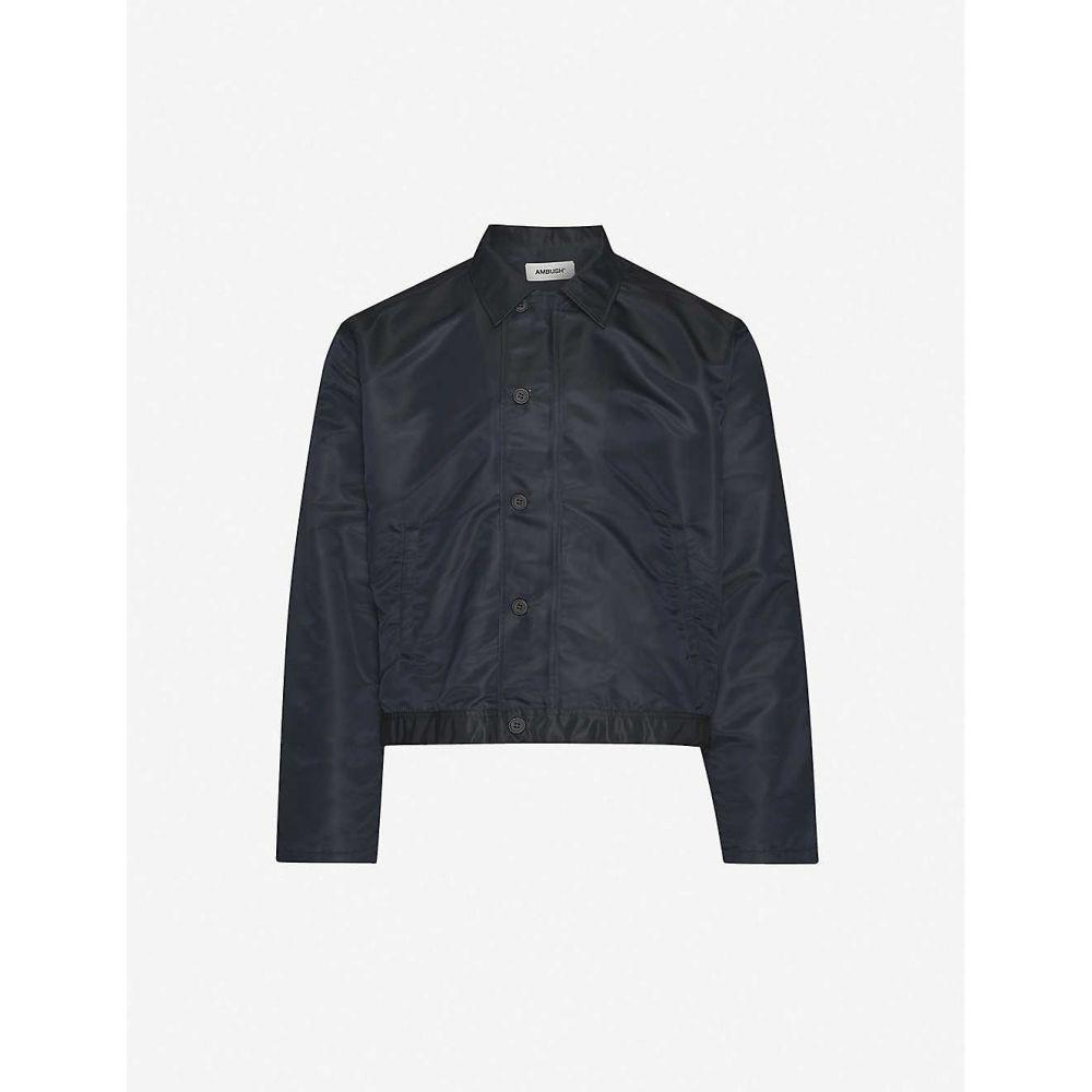 アンブッシュ AMBUSH メンズ ジャケット アウター【logo-print shell top】BLACK