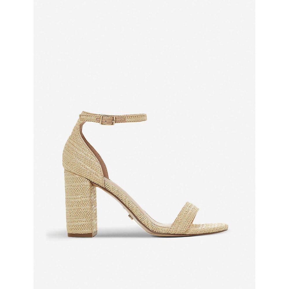 デューン DUNE レディース サンダル・ミュール シューズ・靴【madam leather heeled sandals】NATURAL-CANVAS