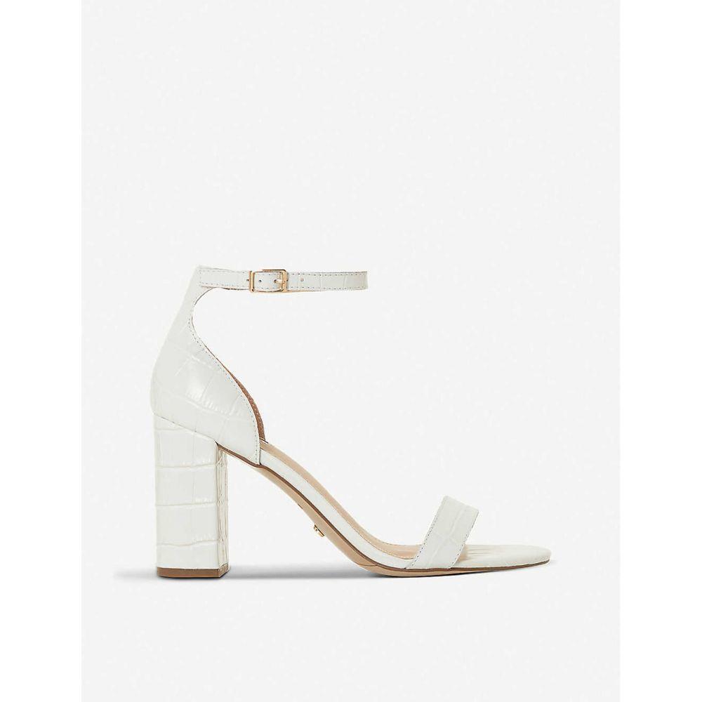 デューン DUNE レディース サンダル・ミュール シューズ・靴【madam leather heeled sandals】WHITE-LEATHER