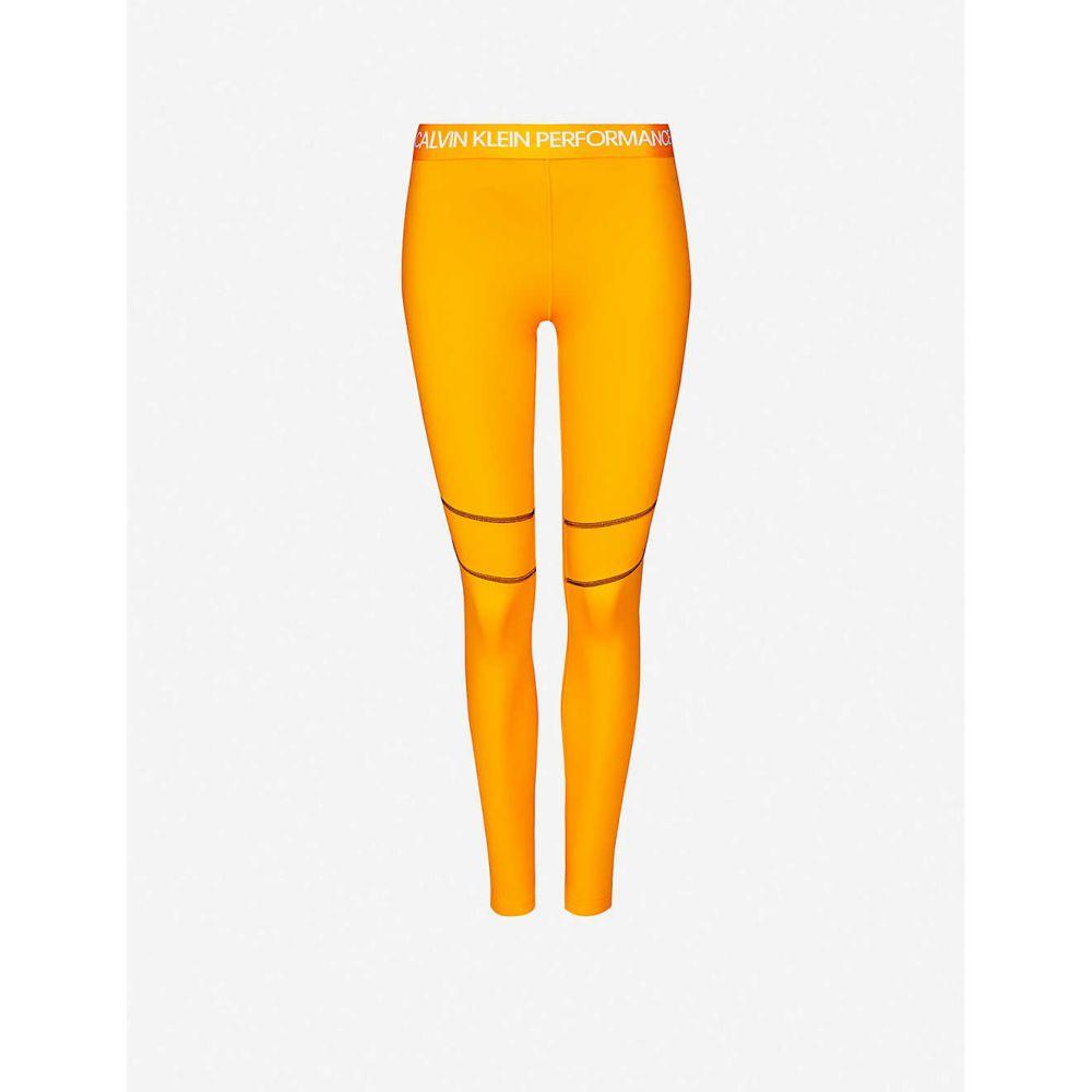 カルバンクライン CALVIN KLEIN レディース スパッツ・レギンス インナー・下着【performance stretch-jersey leggings】Turmeric