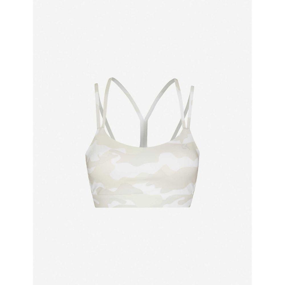 カルバンクライン CALVIN KLEIN レディース スポーツブラ インナー・下着【camouflage-print stretch-jersey bra】Bright White Camo