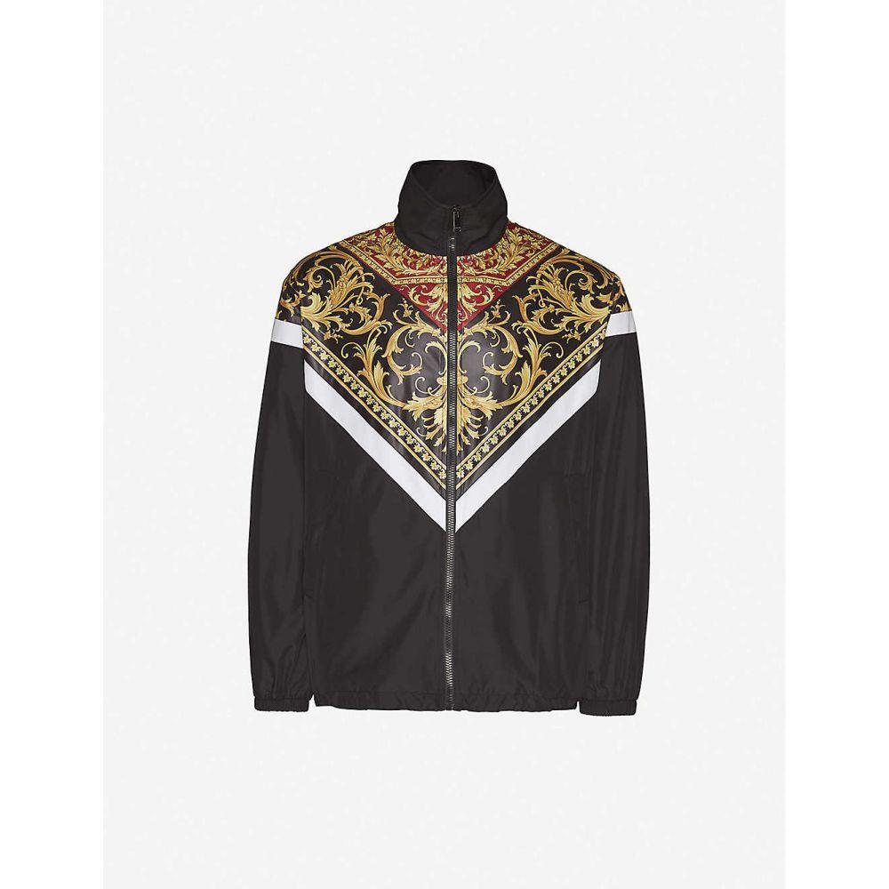 ヴェルサーチ VERSACE メンズ ジャージ シェルジャケット アウター【baroque-print funnel-neck zipped shell tracksuit jacket】Rosso Stampa