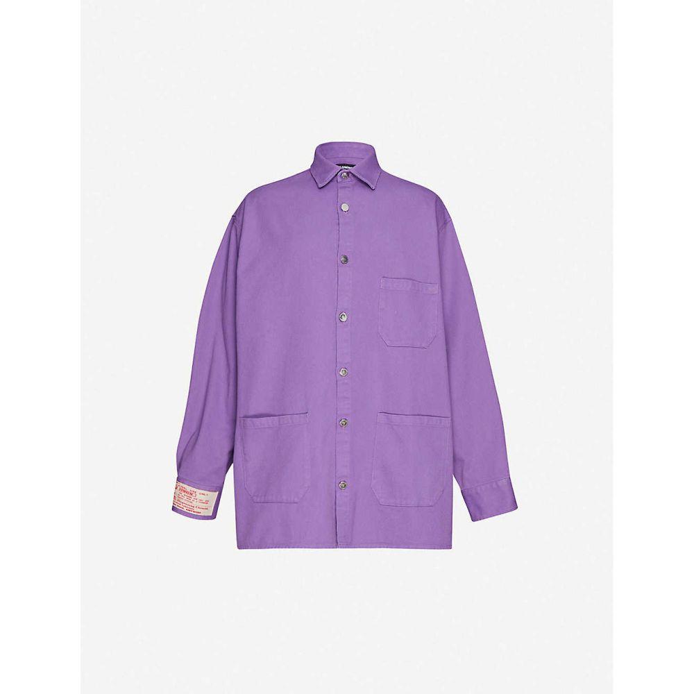 ラフ シモンズ RAF SIMONS メンズ ジャケット デニム アウター【oversized denim shirt】Purple