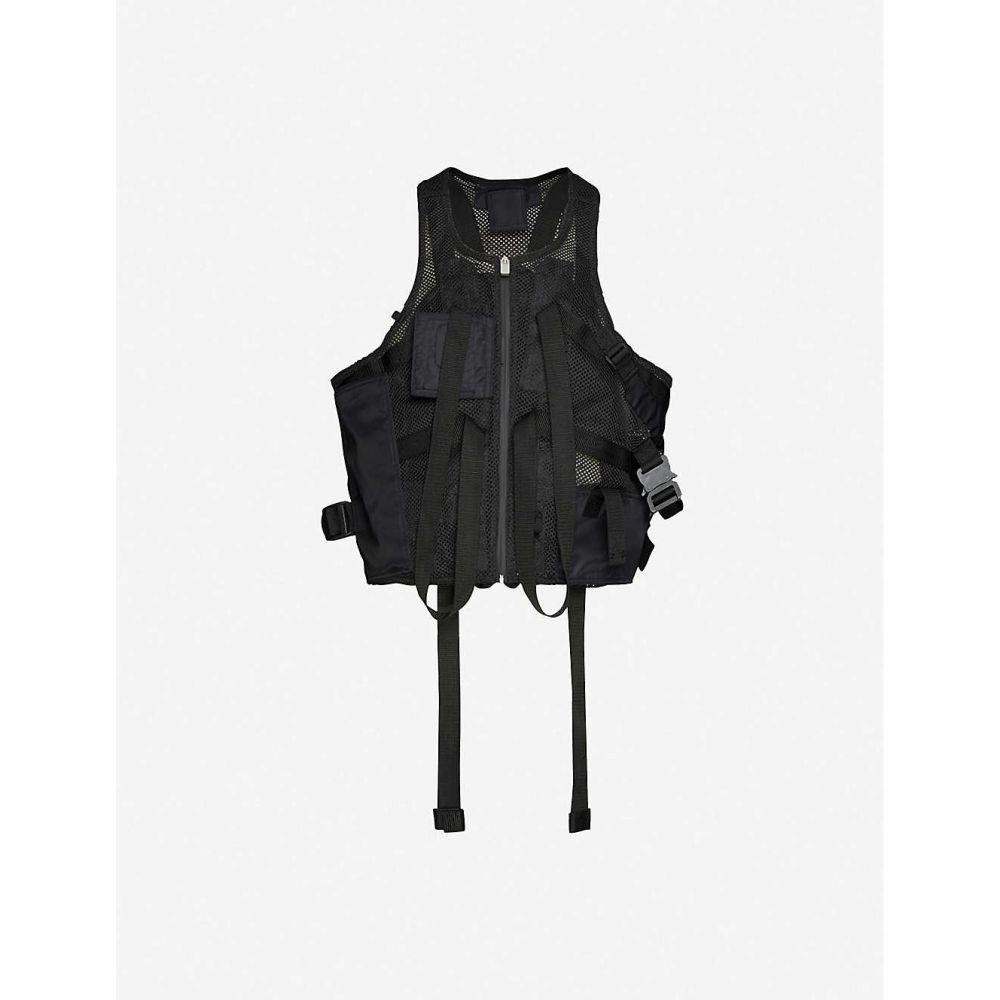 アリクス 1017 ALYX 9SM メンズ ベスト・ジレ トップス【zipped-pocket mesh gilet】BLACK