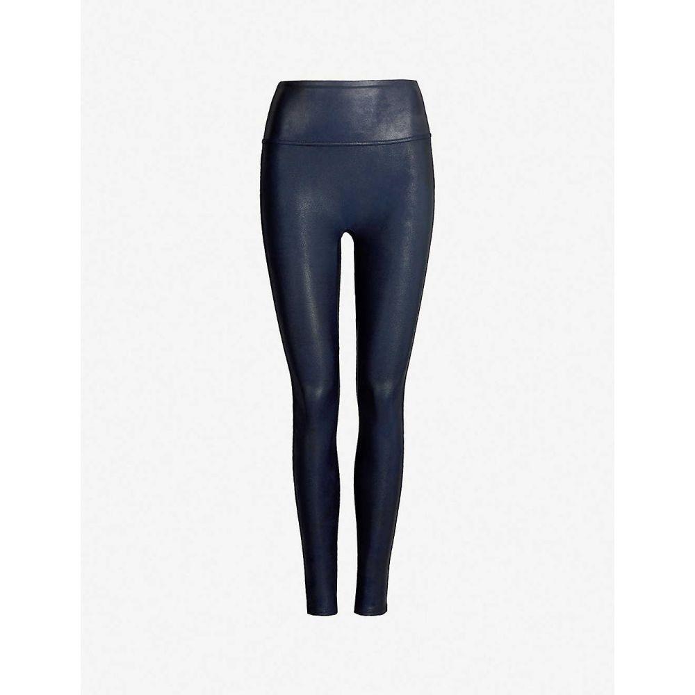 スパンクス SPANX レディース ボトムス・パンツ 【high-rise faux-leather leggings】Night navy