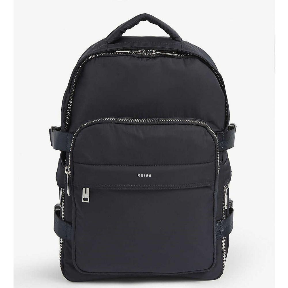 リース REISS メンズ バックパック・リュック バッグ【harrison nylon backpack】NAVY