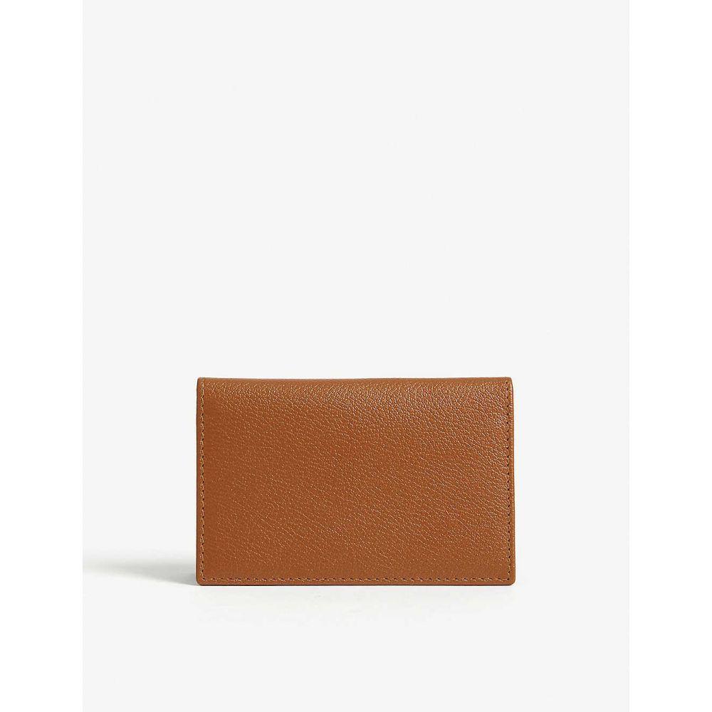 エッティンガー ETTINGER メンズ カードケース・名刺入れ カードホルダー【leather card holder】Tan