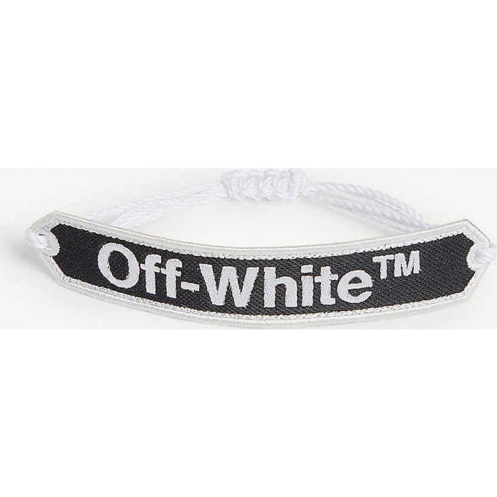 オフホワイト OFF-WHITE C/O VIRGIL ABLOH メンズ ブレスレット ジュエリー・アクセサリー【logo macram? bracelet】BLACK WHITE
