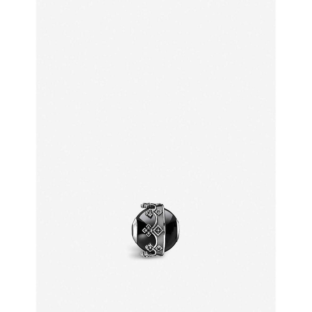 トーマスサボ THOMAS SABO レディース ジュエリー・アクセサリー 【rebel kingdom crown karma sterling silver and onyx bead】black