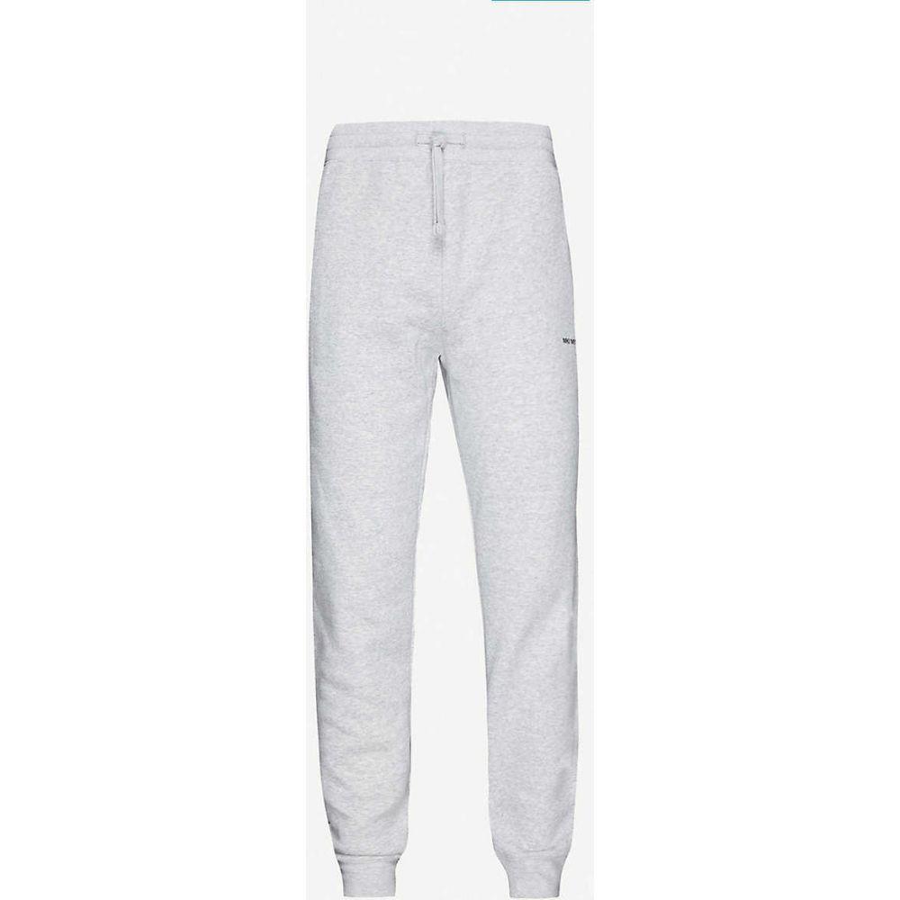 ミキミユキゾク MKI MIYUKI-ZOKU メンズ スウェット・ジャージ ボトムス・パンツ【brand-print tapered cotton-blend jogging bottoms】Grey