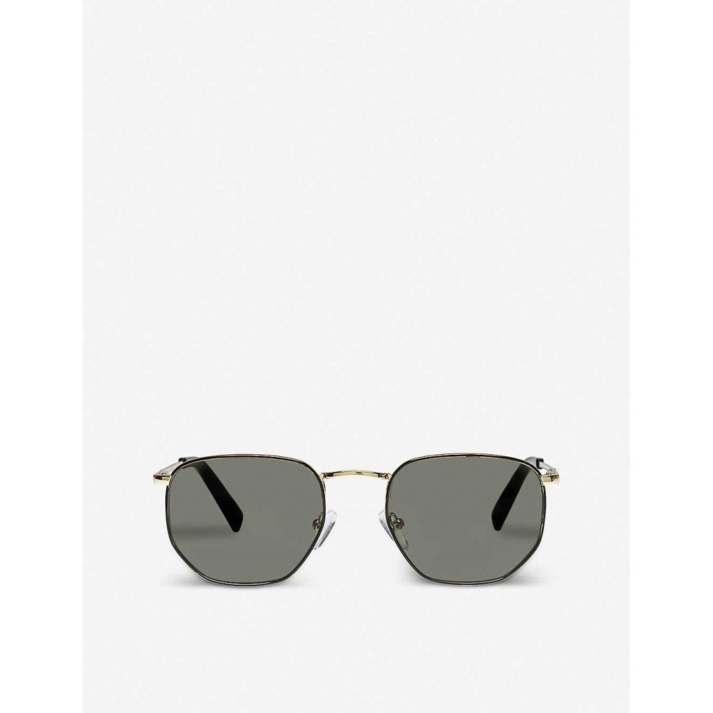 ル スペックス LE SPECS レディース メガネ・サングラス 【alto hexagonal-frame sunglasses】Gold Black Khaki Mono