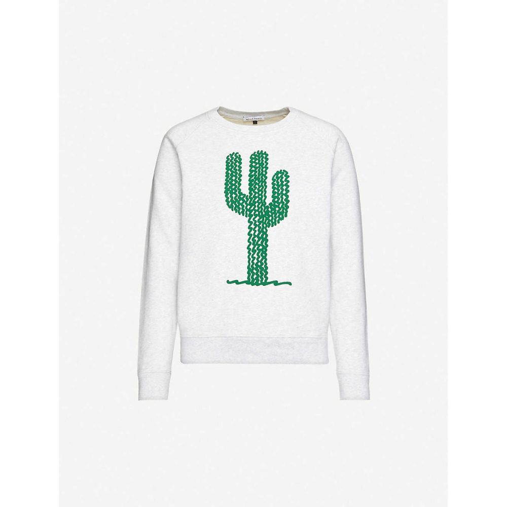 ベラフルード BELLA FREUD レディース スウェット・トレーナー トップス【cactus-print cotton-jersey sweatshirt】ASH