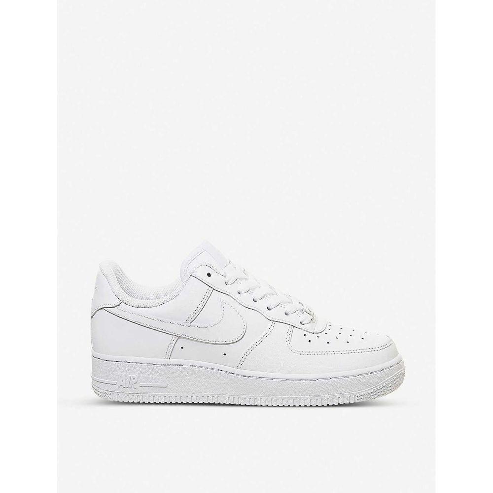 ナイキ NIKE メンズ スニーカー エアフォースワン シューズ・靴【air force 1 07 leather trainers】WHITE WHITE