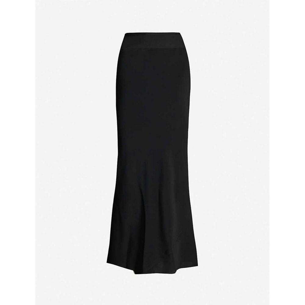 リック オウエンス RICK OWENS レディース ロング・マキシ丈スカート スカート【crepe and silk-blend maxi skirt】BLACK