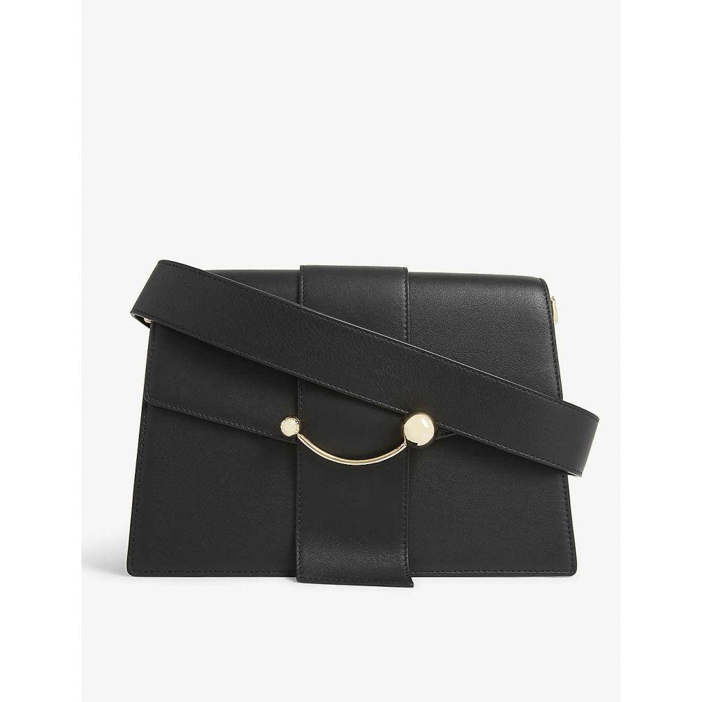 ストラスベリー STRATHBERRY レディース ショルダーバッグ バッグ【crescent leather shoulder bag】BLACK