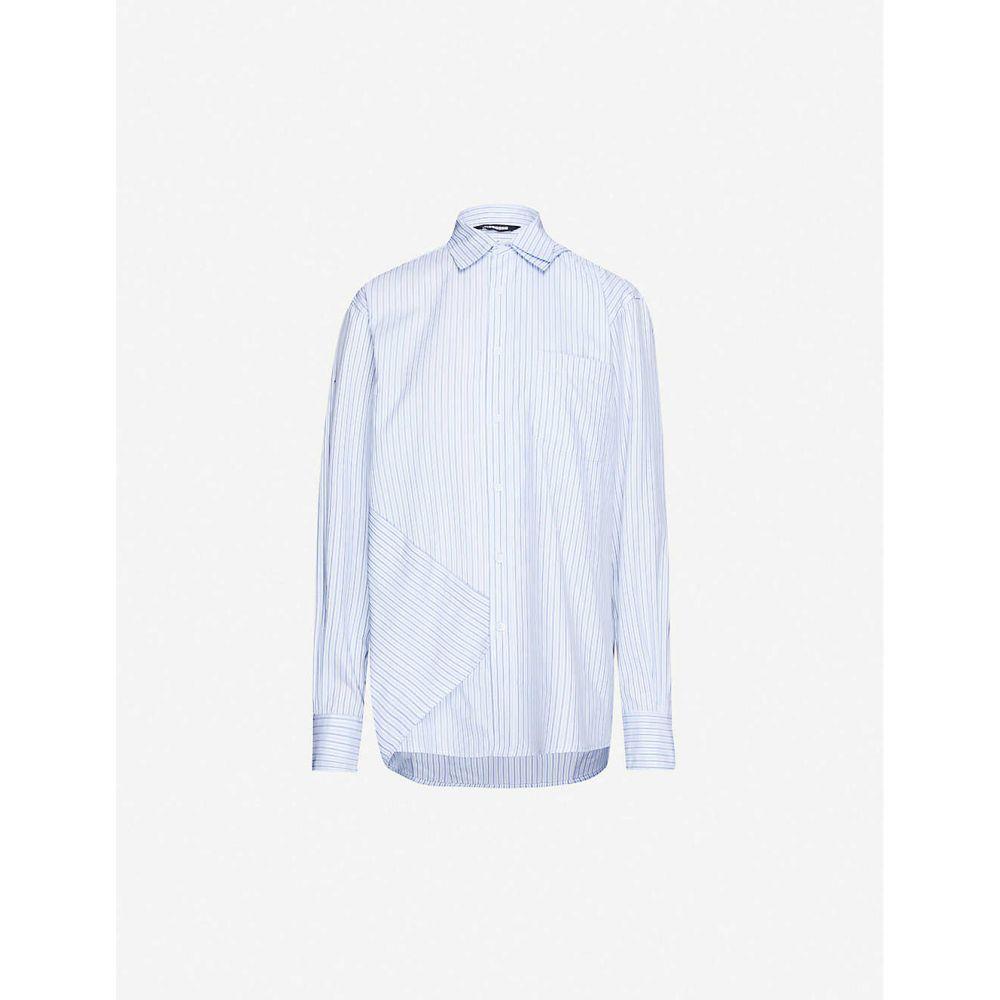 ムホン MOOHONG レディース ブラウス・シャツ トップス【striped double-layered cotton shirt】Crayon
