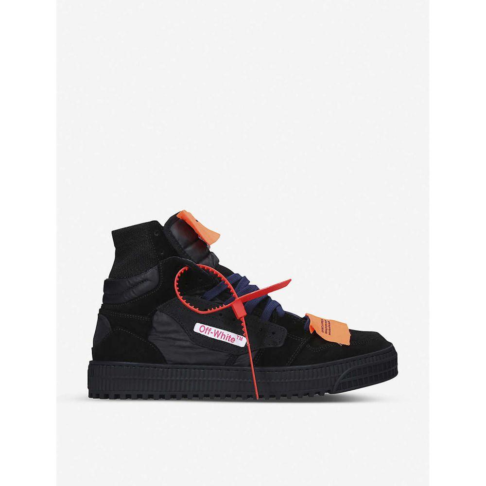 オフホワイト OFF-WHITE C/O VIRGIL ABLOH メンズ スニーカー シューズ・靴【off-court leather high top trainers】BLACK