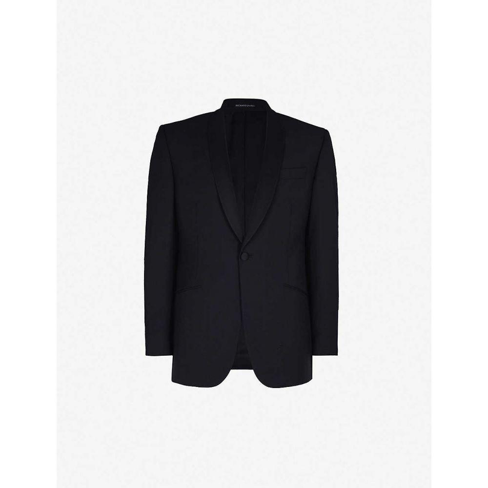 リチャード ジェームス RICHARD JAMES メンズ スーツ・ジャケット タキシード アウター【satin-lapel regular-fit wool and mohair-blend tuxedo jacket】Black