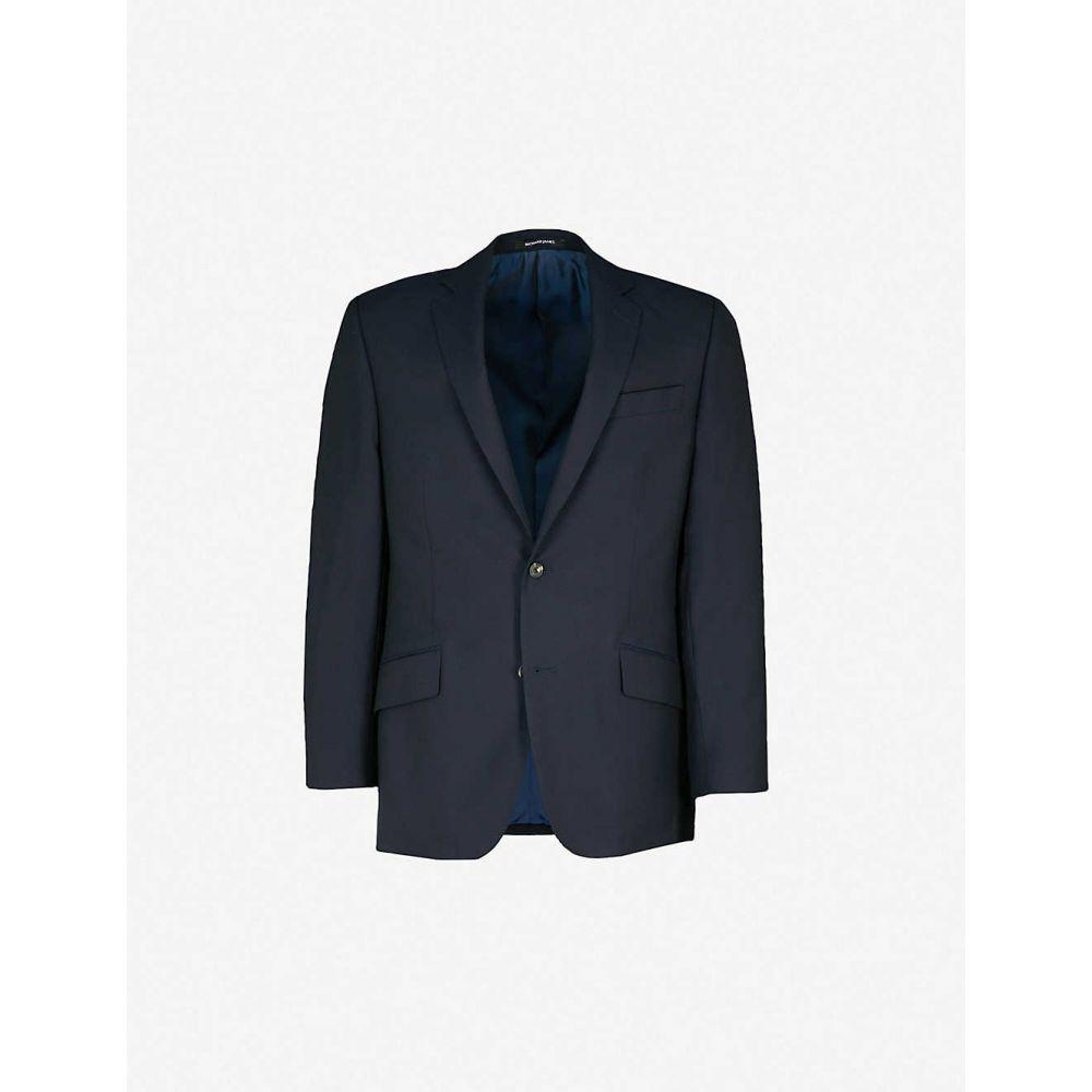 リチャード ジェームス RICHARD JAMES メンズ スーツ・ジャケット アウター【travel slim-fit wool blazer】NAVY