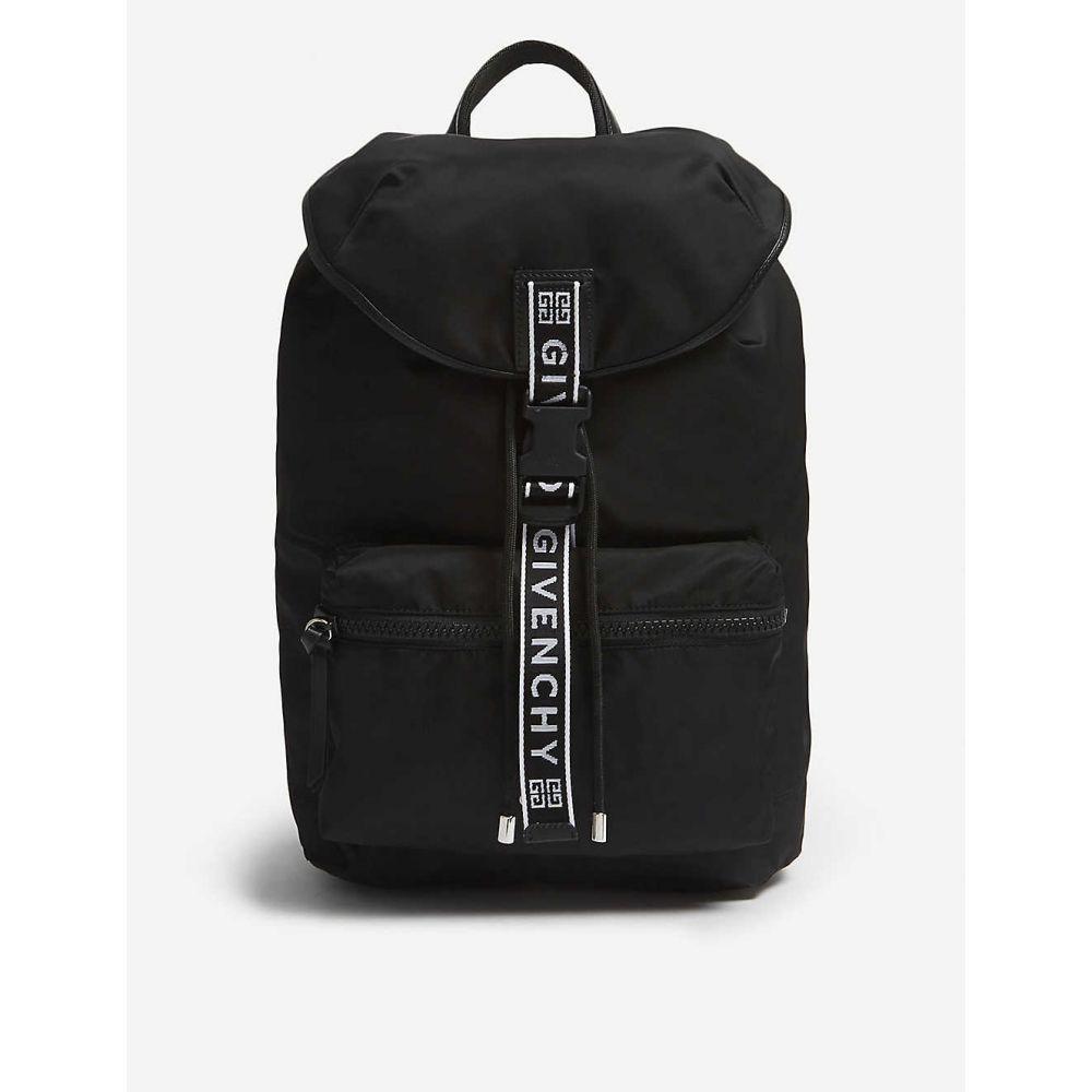 ジバンシー GIVENCHY メンズ バックパック・リュック バッグ【logo tape nylon backpack】Black white