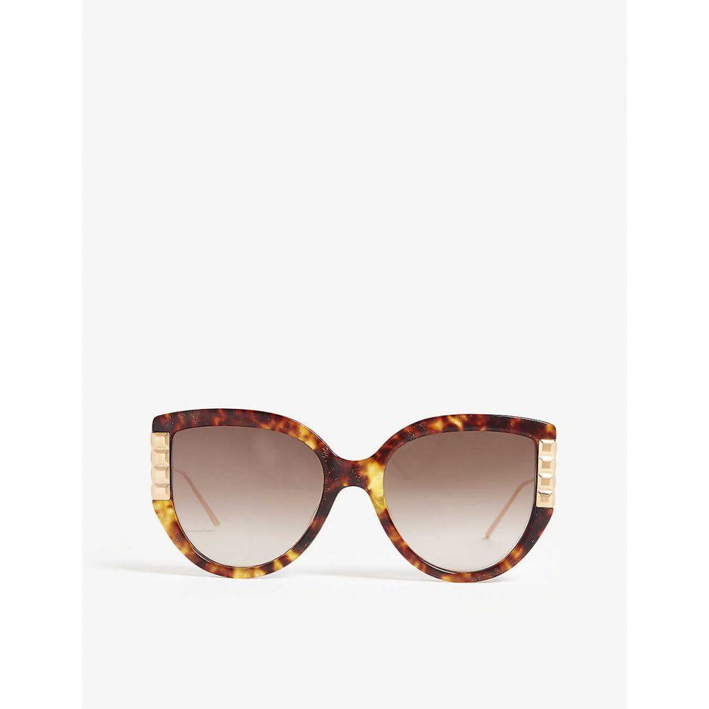 ブシュロン BOUCHERON レディース メガネ・サングラス キャットアイ【bc0050s havana cat-eye sunglasses】HAVANA