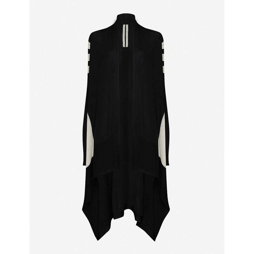 リック オウエンス RICK OWENS レディース カーディガン トップス【striped draped wool cardigan】BLACK