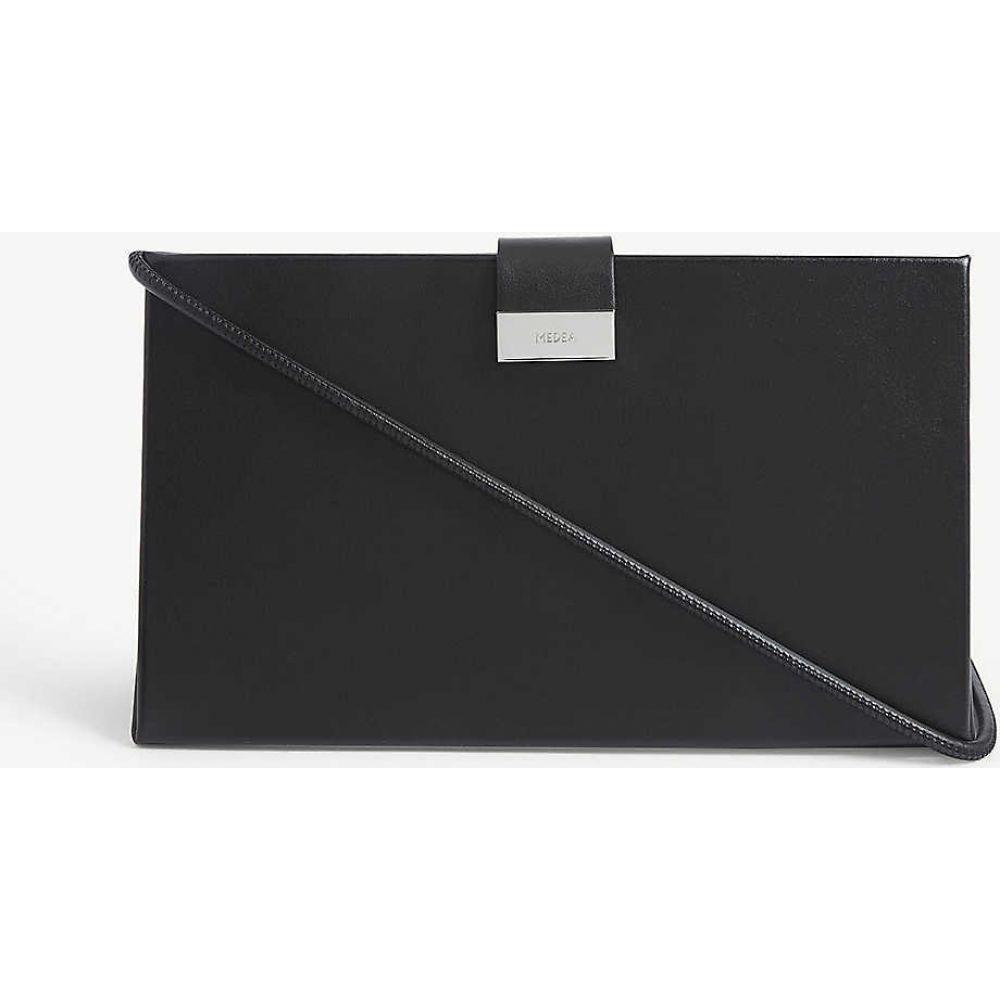 メデア MEDEA レディース ショルダーバッグ バッグ【lay low leather shoulder bag】BLACK