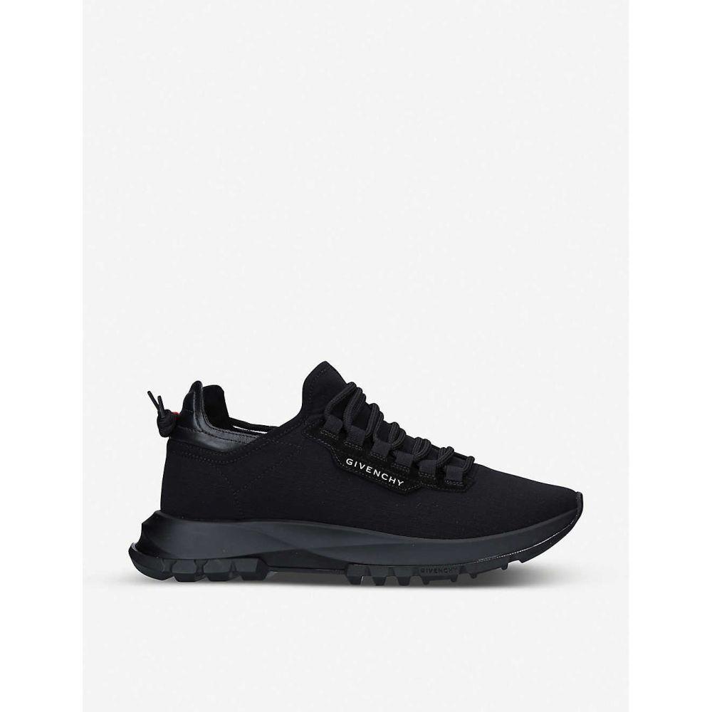 ジバンシー GIVENCHY メンズ スニーカー シューズ・靴【spectre panelled woven and leather low-top trainers】BLACK
