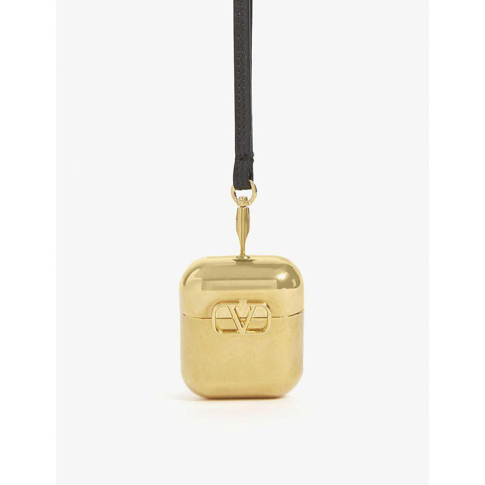 ヴァレンティノ VALENTINO GARAVANI レディース テックアクセサリー 【v-logo metal airpod case】Gold/black