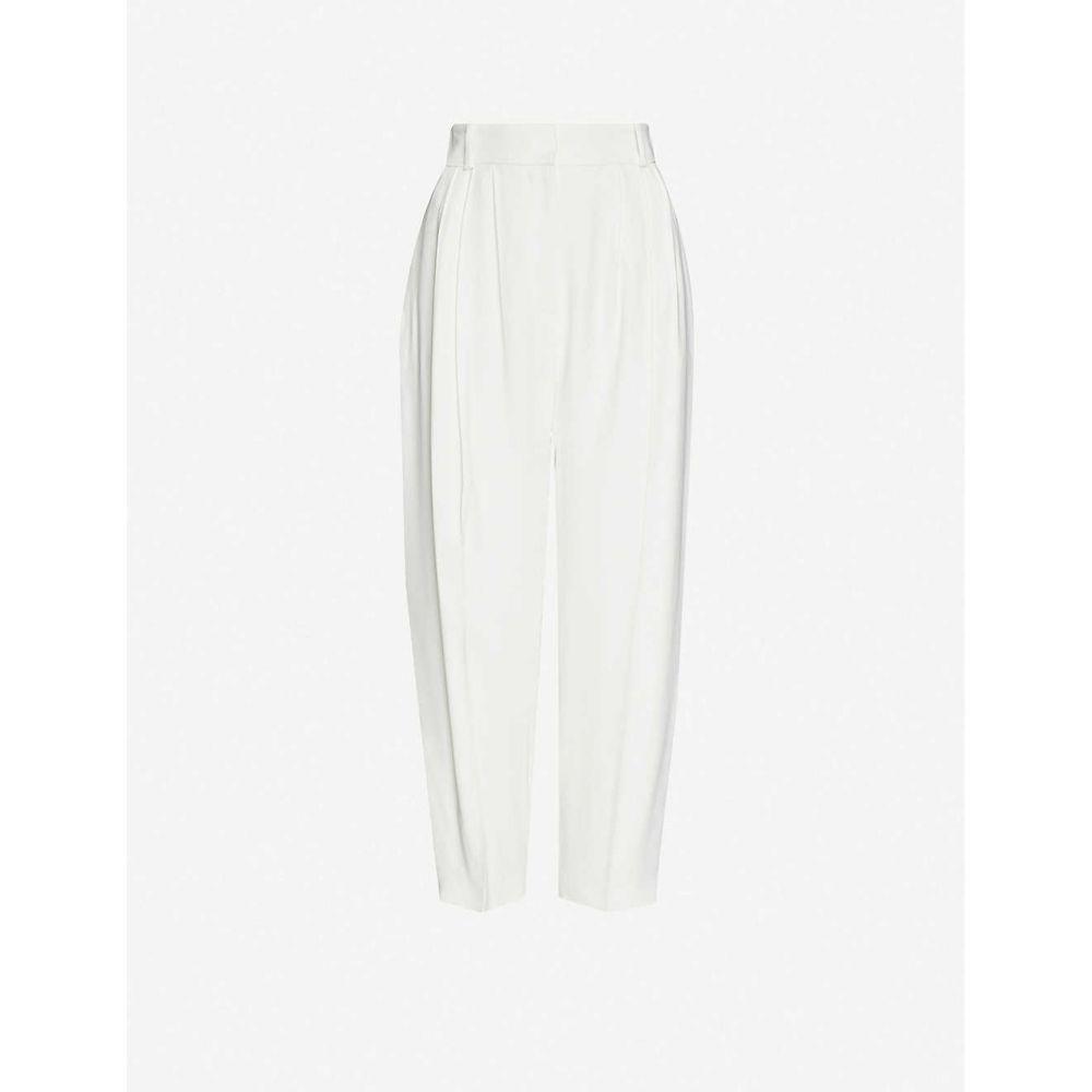 アレキサンダー マックイーン ALEXANDER MCQUEEN レディース ボトムス・パンツ 【pleated high-rise tapered crepe trousers】Light Ivory