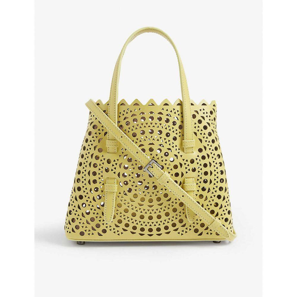 アズディンアライア AZZEDINE ALAIA レディース ショルダーバッグ バッグ【mini laser-cut leather cross-body bag】Topaze