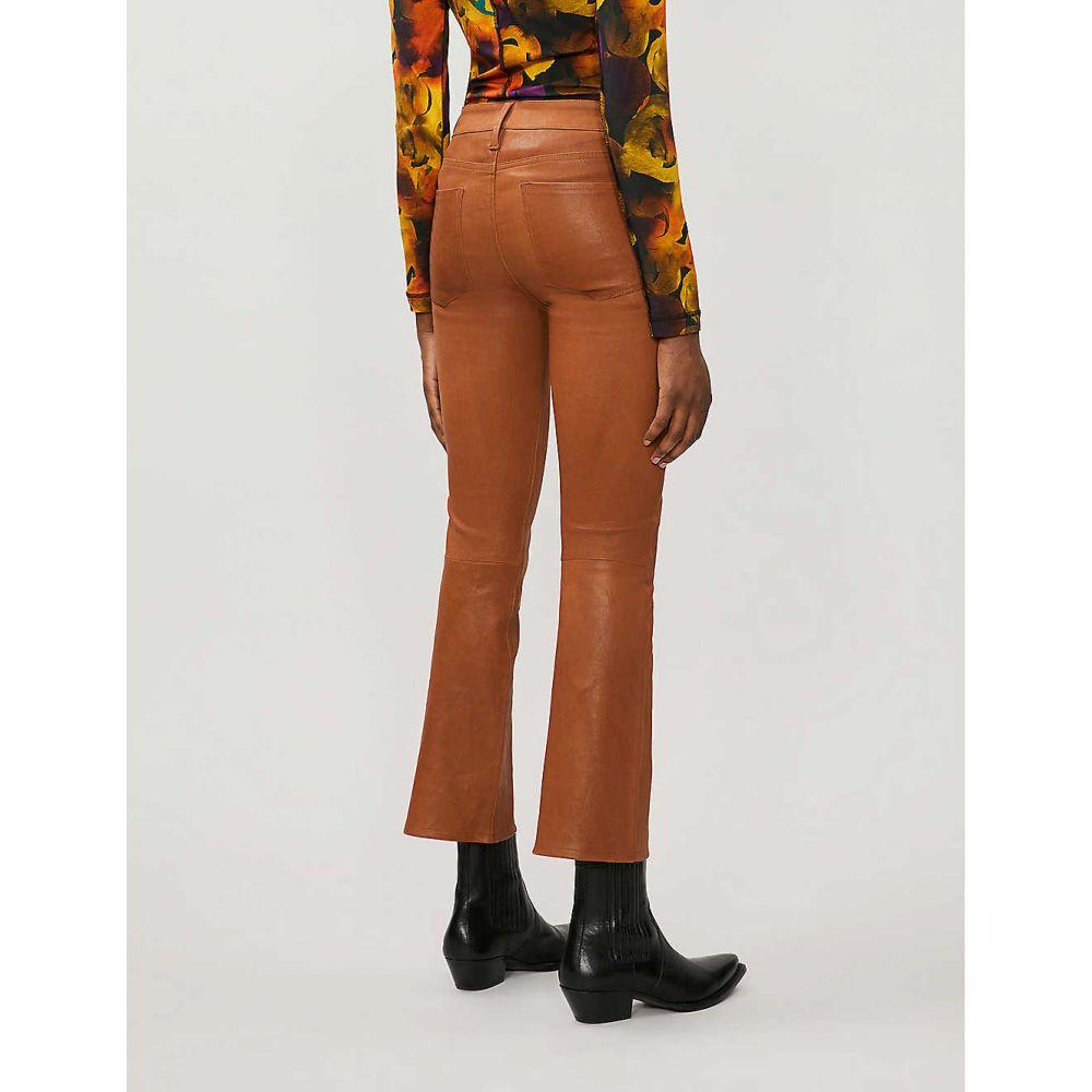 フレーム FRAME レディース ジーンズ・デニム ボトムス・パンツ le crop mini boot high rise leather jeans TobaccoA435LRj