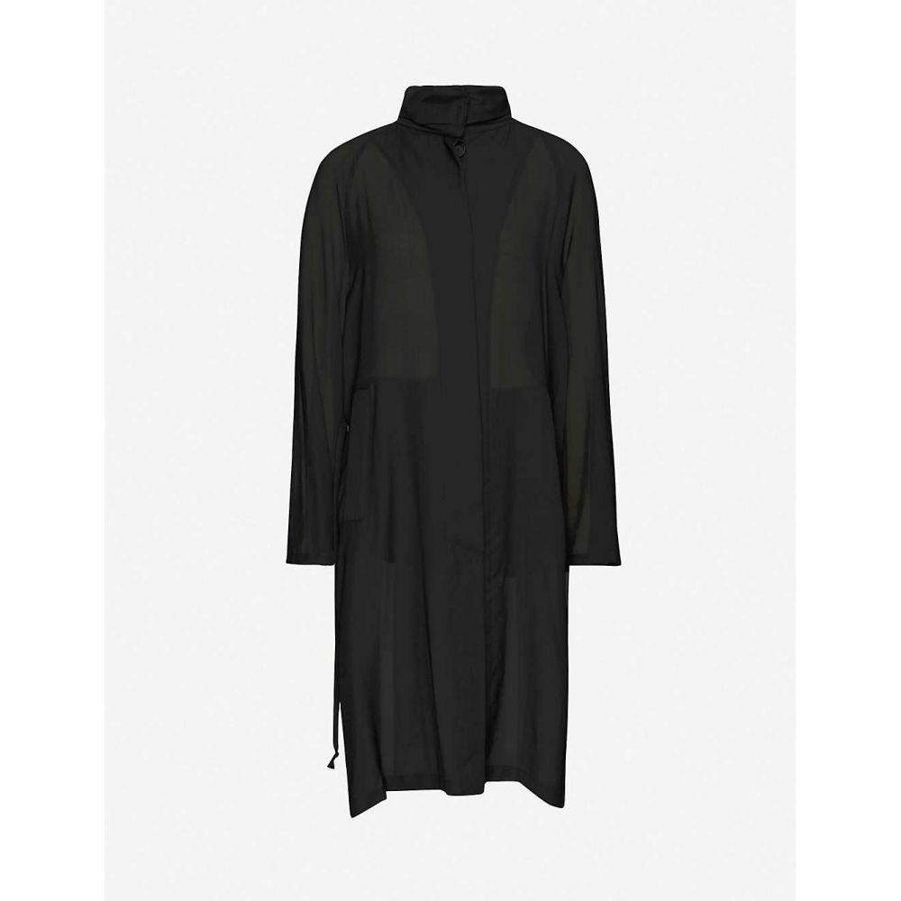 アンドゥムルメステール ANN DEMEULEMEESTER レディース パーカー トップス【ad p 50 coa sheer hoodie】Black