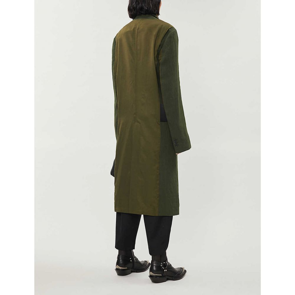 ハイダー アッカーマン HAIDER ACKERMANN レディース コート アウター officer single breasted linen and silk blend coat Khaki black5Rj3Lq4A