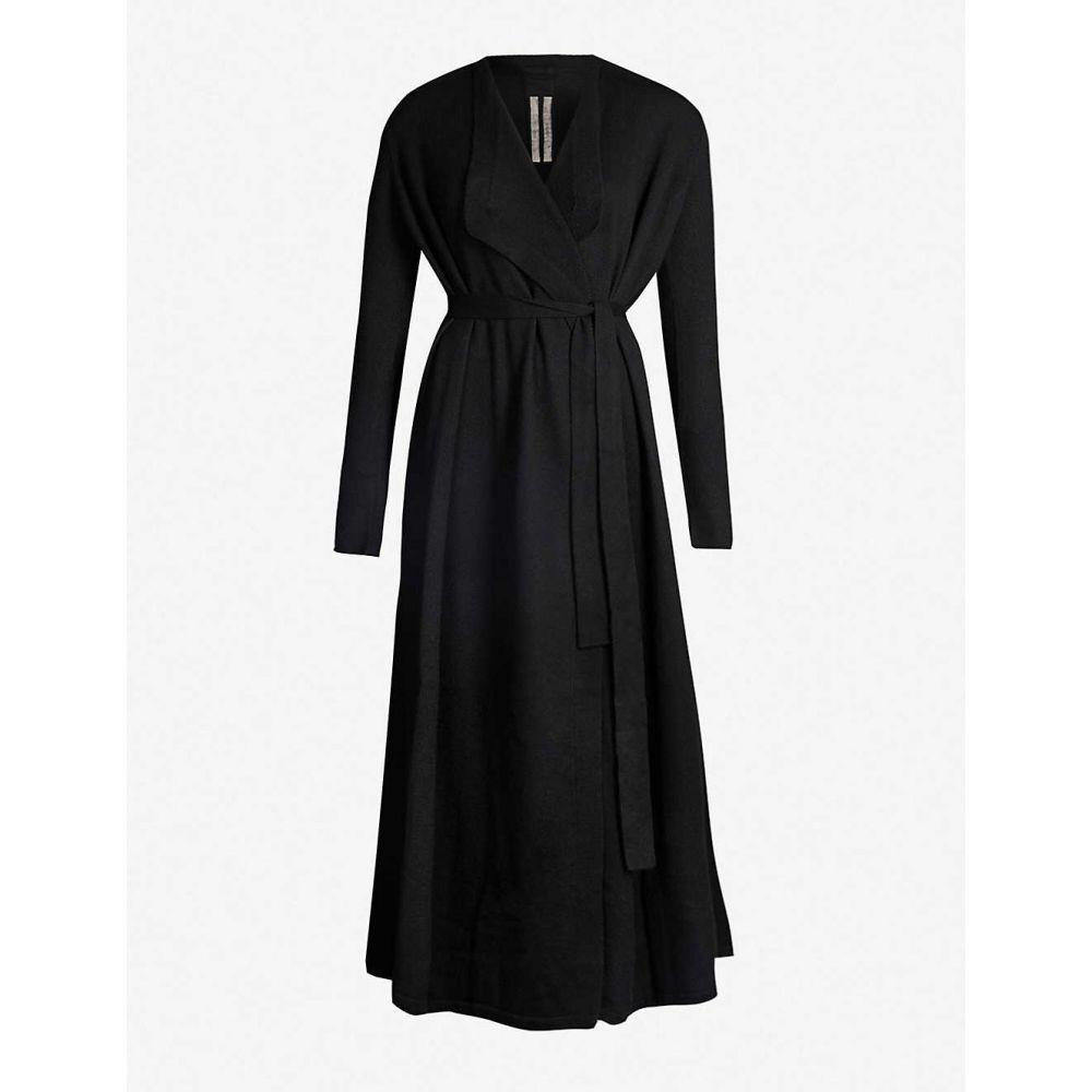 リック オウエンス RICK OWENS レディース ガウン・バスローブ インナー・下着【self-tie cashmere robe】BLACK
