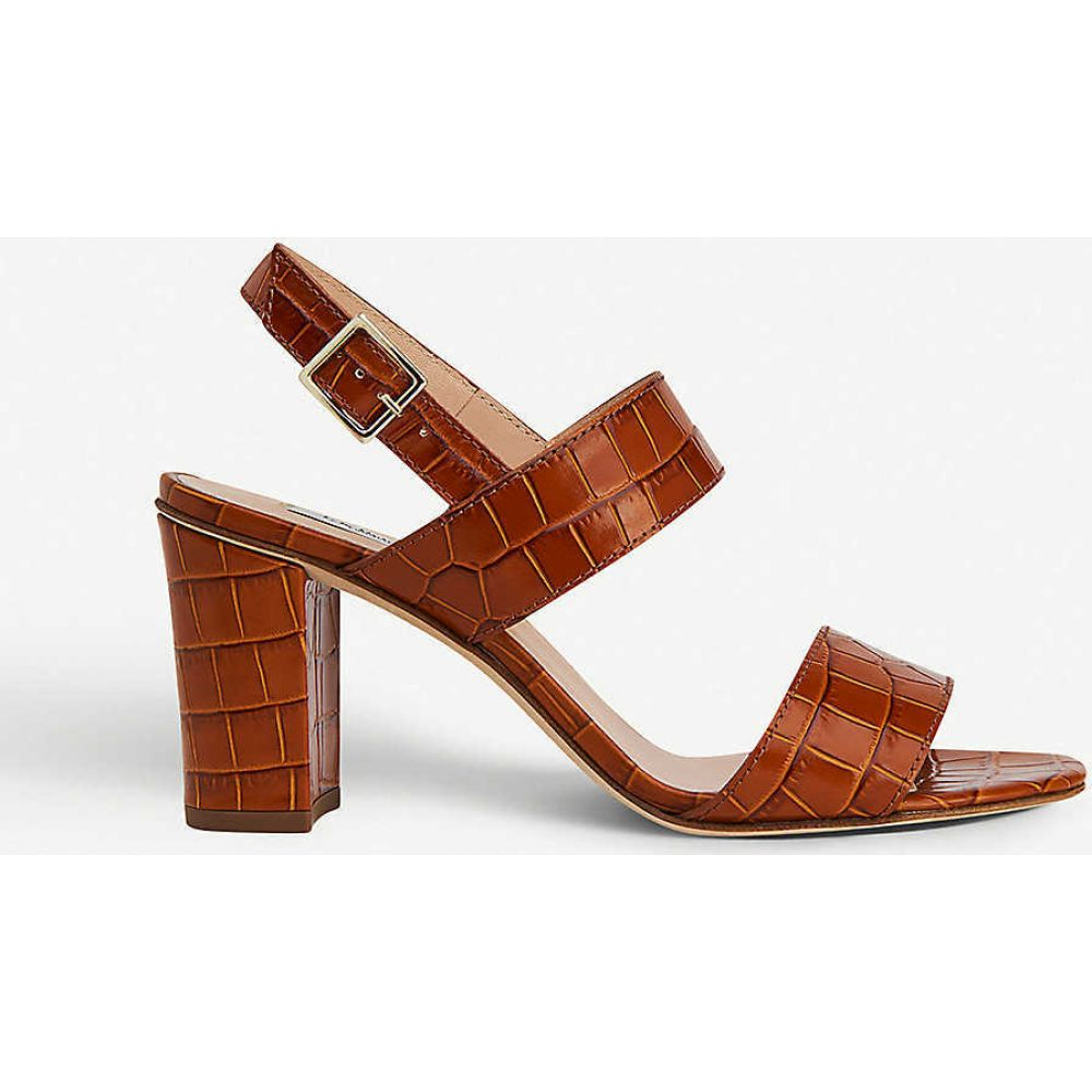 エルケーベネット LK BENNETT レディース サンダル・ミュール シューズ・靴【Rhiannon crocodile-embossed leather heeled sandals】BRO-TAN