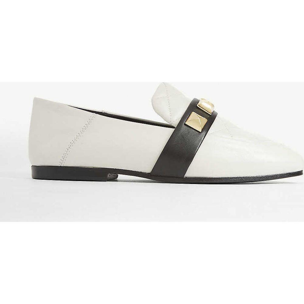 クローディ ピエルロ CLAUDIE PIERLOT レディース ローファー・オックスフォード シューズ・靴【Studded quilted leather loafers】BICOLORE