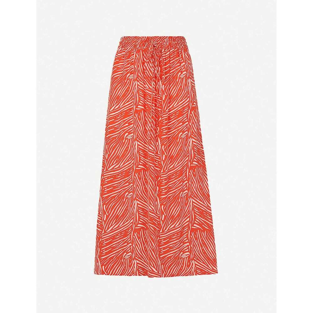 ホイッスルズ WHISTLES レディース ひざ丈スカート スカート【Tiger Palm abstract-print crepe midi skirt】MULTI-COLOURED