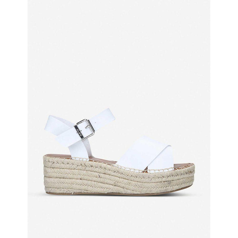 アルド ALDO レディース サンダル・ミュール シューズ・靴【Tineviel faux-leather platform sandals】WHITE