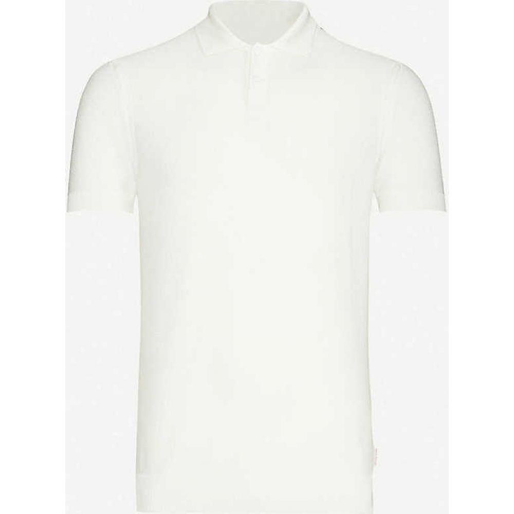 オールバー ブラウン ORLEBAR BROWN メンズ ポロシャツ トップス【Silk and cotton-blend knit polo shirt】Ivory