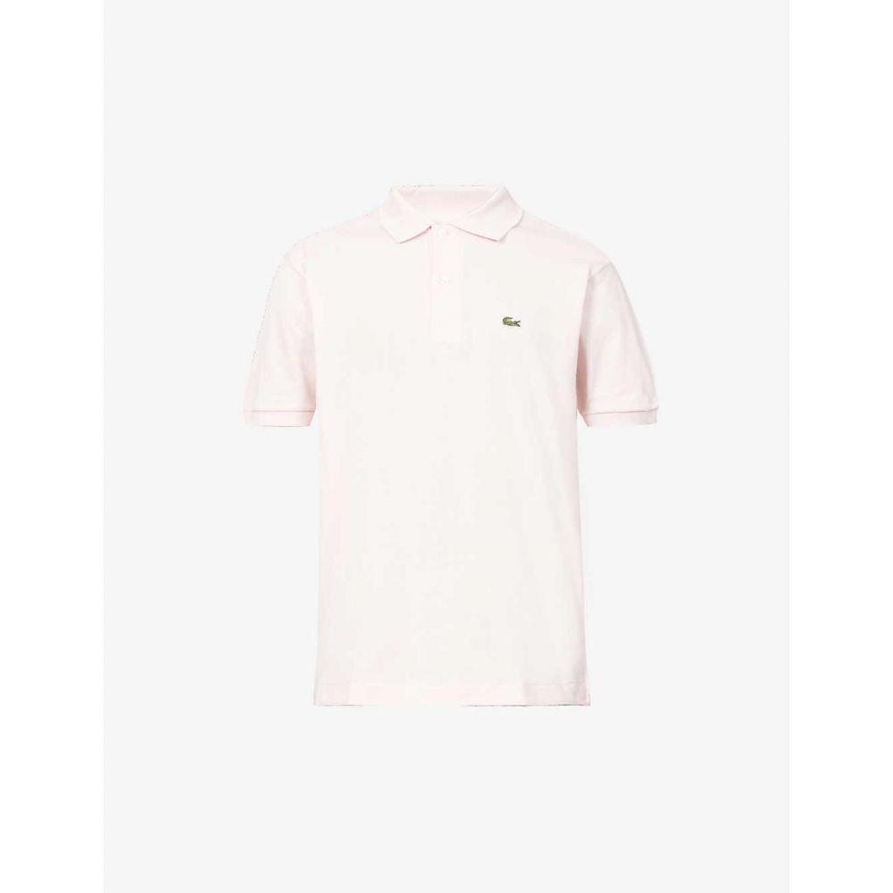 ラコステ LACOSTE メンズ ポロシャツ トップス【Logo-embroidered cotton-piqu polo shirt】PINK