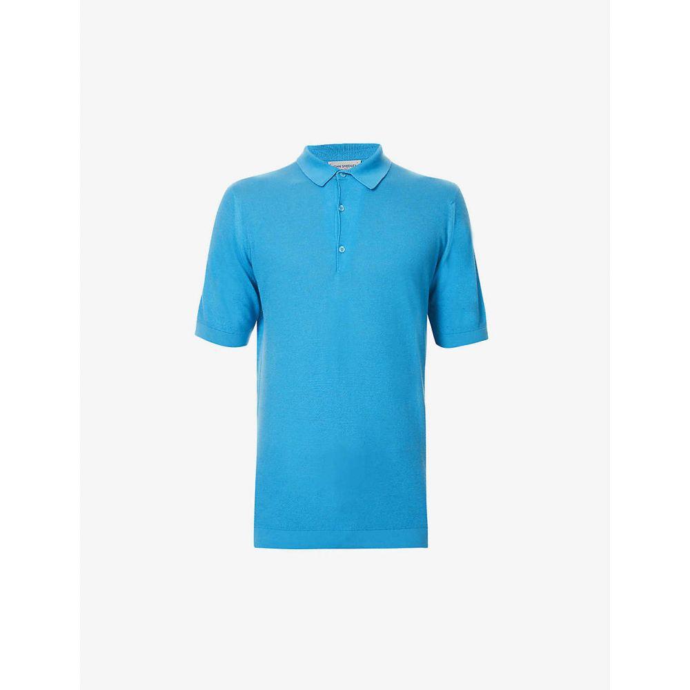 ジョンスメドレー JOHN SMEDLEY メンズ ポロシャツ トップス【Roth cotton-knit polo shirt】Harbour Blue