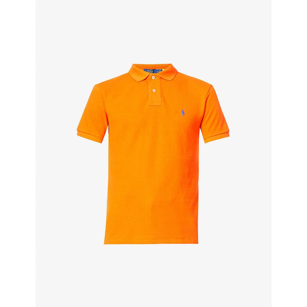 ラルフ ローレン POLO RALPH LAUREN メンズ ポロシャツ トップス【Logo-embroidered cotton-piqu polo shirt】Sailing Oarange
