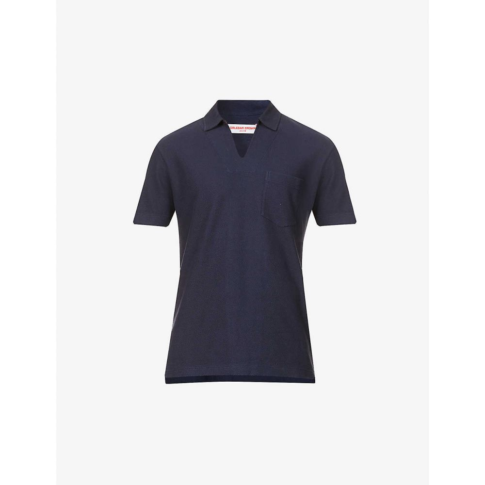 オールバー ブラウン ORLEBAR BROWN メンズ ポロシャツ トップス【Lincoln cotton-pique polo shirt】DARK NAVY